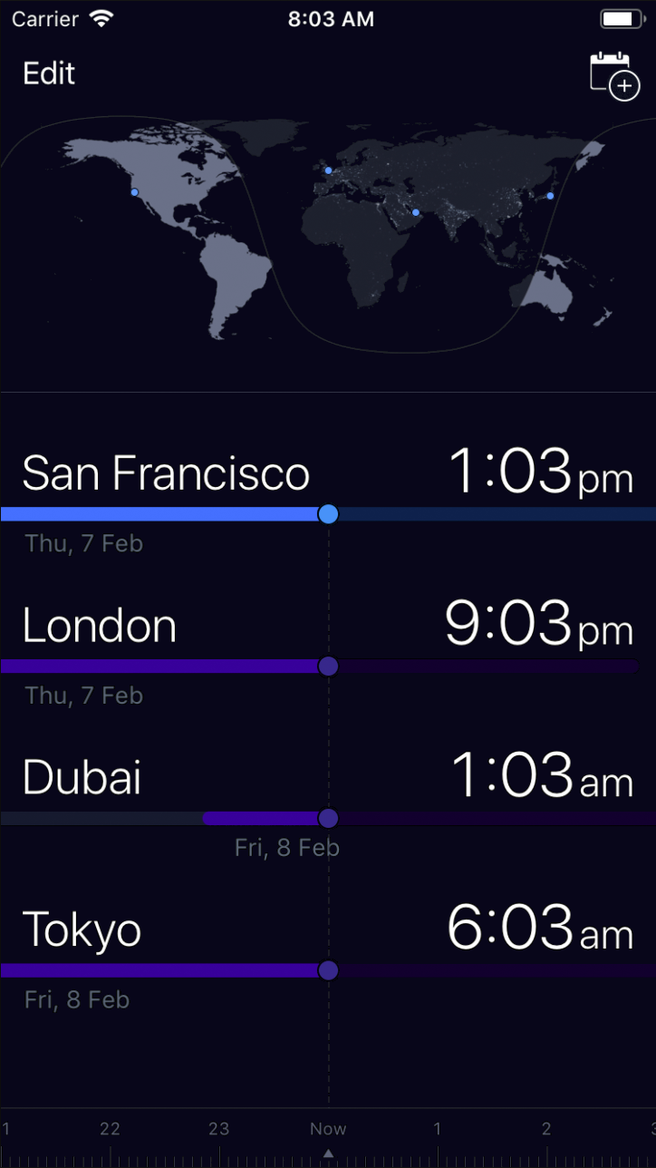 Tmzn - Simple time zone conversion app for iPhone